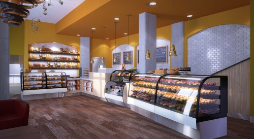Rendering for Caprice to be located at 3460 14th St NWFrench Bakery Design