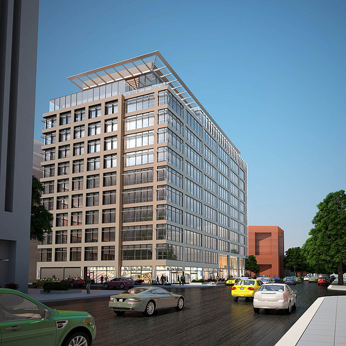 Rendering of 1200 17th st nw by zgf architects popville for Architects nw