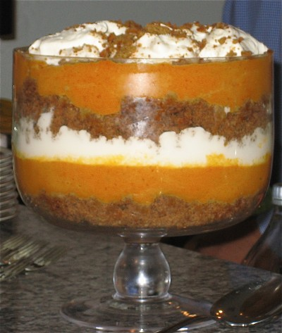 Thanksgiving Day Recipe Pumpkin Gingerbread Trifle With