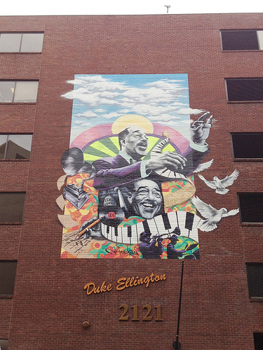 New duke ellington mural at 2121 ward place nw popville for Duke ellington mural