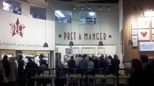 """pret a manger operation management Business services – operations management  pret a manger marketing operations promotional activities, market research, etc design, location and management of stores and in-store processes and the network that supplies them nutritional """"mechanical"""" and aesthetic."""