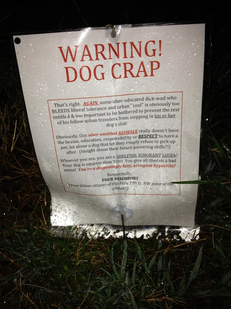 Popville 187 Warning Dog Crap You Are A Shelfish