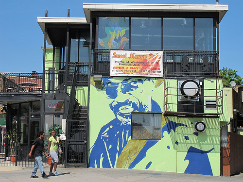 The stories behind d c s most iconic music murals d c for Chuck brown mural