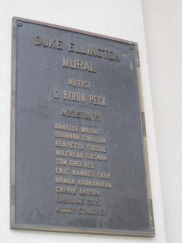 What iconic duke ellington mural gone from true for Duke ellington mural