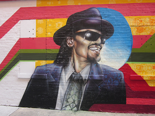 Popville completed murals of famous patrons outside of for Chuck brown mural