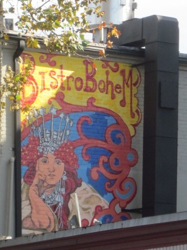 New mural above bistro kafe bohem near the duke ellington for Duke ellington mural