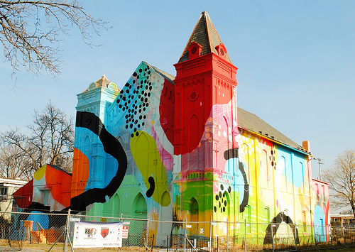 Hense art church project in sw waterfront popville for Art mural nivelles