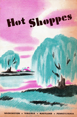 Hot Shoppes menu Easter 1946 cover