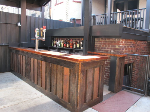 Chez billy s back patio gets a new bar opens this sunday for Balcony restaurant and bar