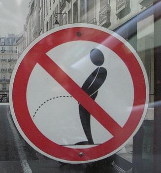 no pissing