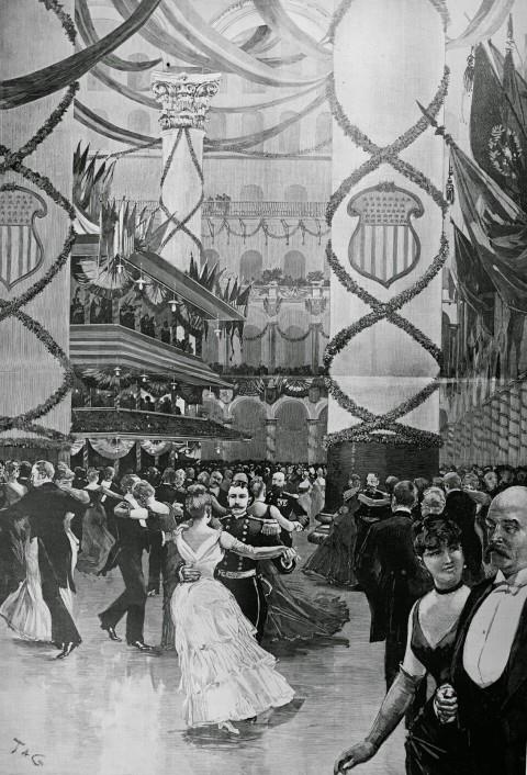 1889 Inaugural Ball Pension Bldg 33083u