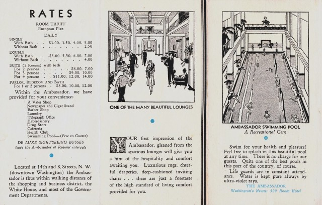 Ambassador Hotel brochure 04