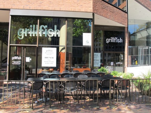 Grillfish 39 s new chef new brunch oyster shooter menu for Grill fish dc