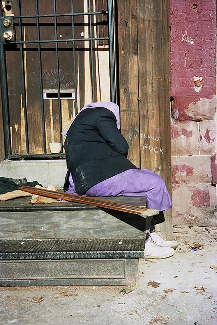 Homeless in Purple