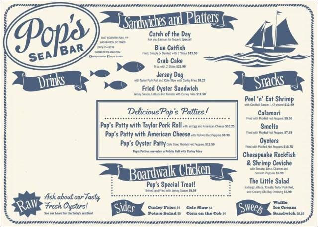 Pop's_sea_bar_menu_adams_morgan