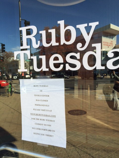 Ruby Tuesday Has Permanently Closed In Columbia Heights