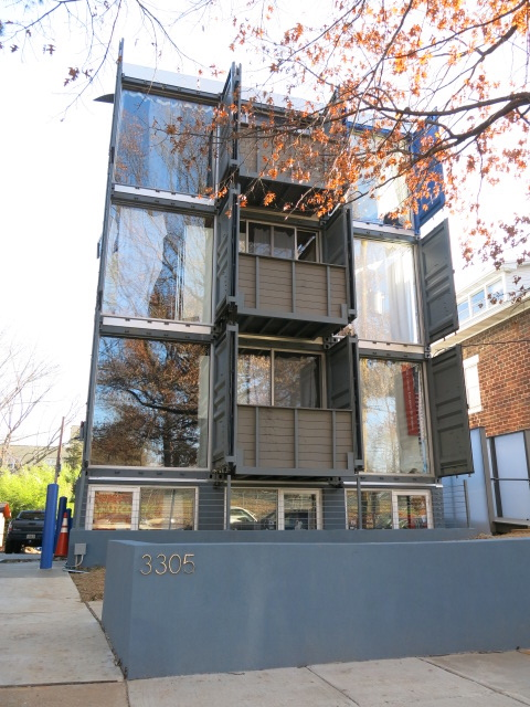 3305 7th Street, NE. When we last checked on the storage container  apartments ...
