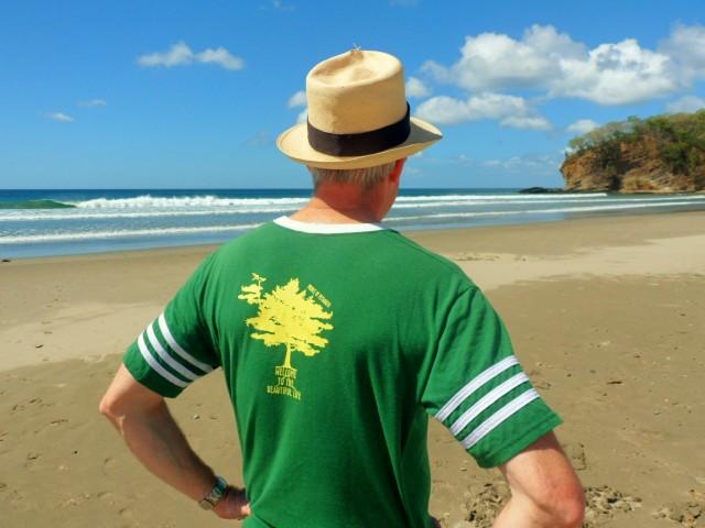 Chris Church at Coco Beach, Nicaragua