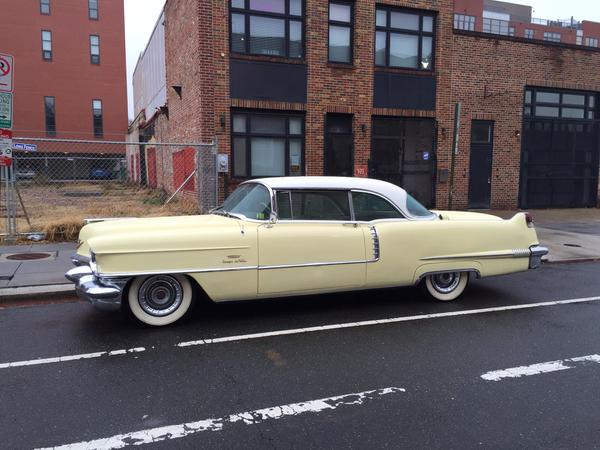 Cadillac Coupe de Ville from in front of Amer Ice Co