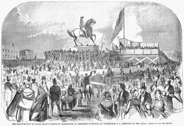 Inauguration of Clark Mills' Statue of Washington