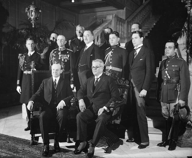 Pres+Coolidge+and+Pres+Machado+of+Cuba+at+Cuban+Embassy+22+Apr+1927+34449u