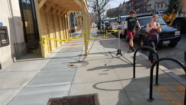Colunbia Road Sidewalk Closing 2