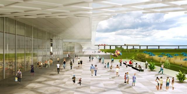 11_N-S Axis Design Concept_Esplanade_Copyright OMA