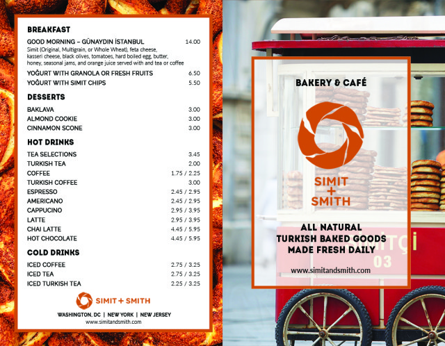 Simit + Smith Menu 01