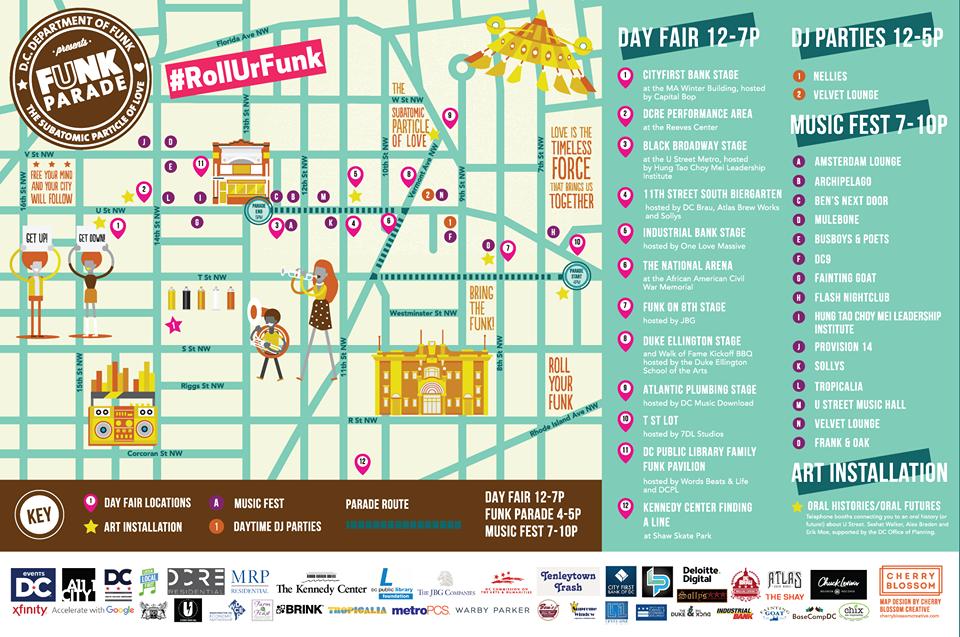funk parade map