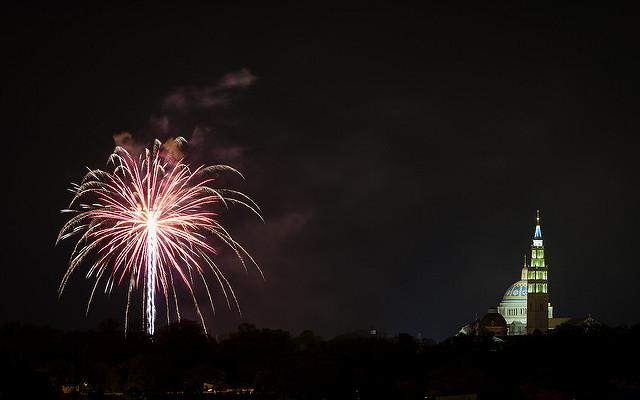 fireworks neighborhood or mall