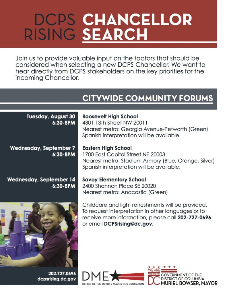 Chancellor search flyer