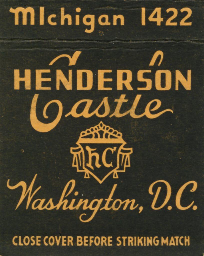 Henderson Castle Matchcover front