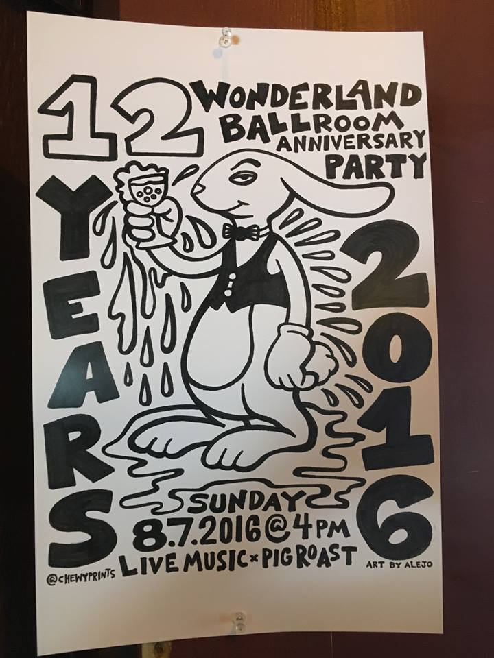 Wonderland 12 year party Sunday