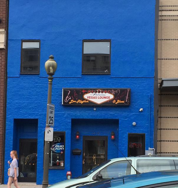 vegas lounge blue