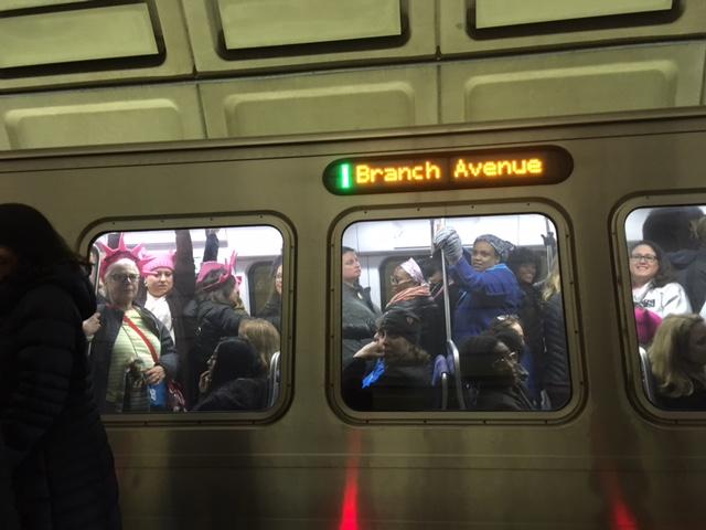 metro packed