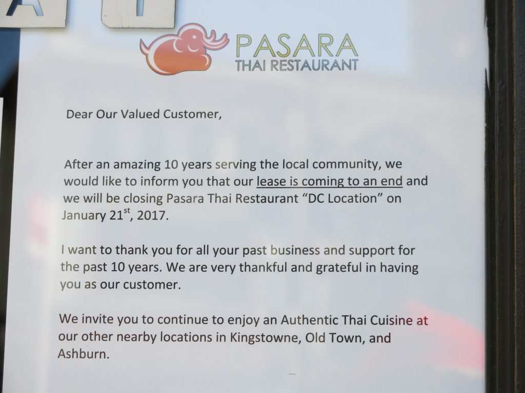 pasara thai closing after years on connecticut popville pansari closing letter