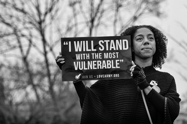 stand with vulnerable
