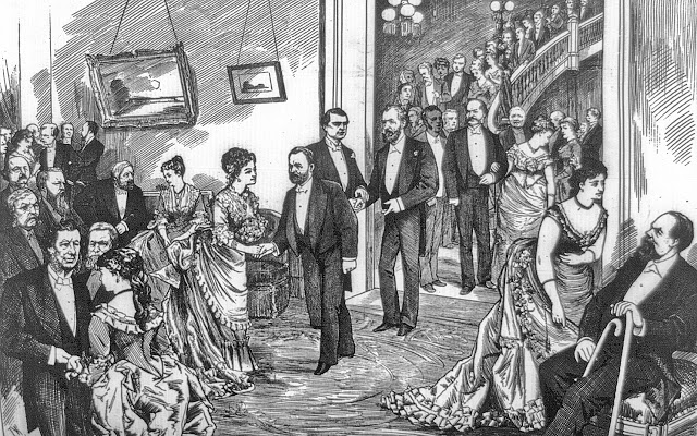 Grand reception by ex-governor and Mrs Alexander R Shepherd at their new mansion, Feb 5, 1876 Harper's Weekly 3a07905u