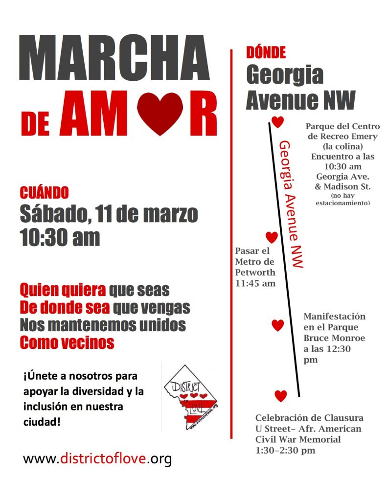 Love March flyer_Spanish