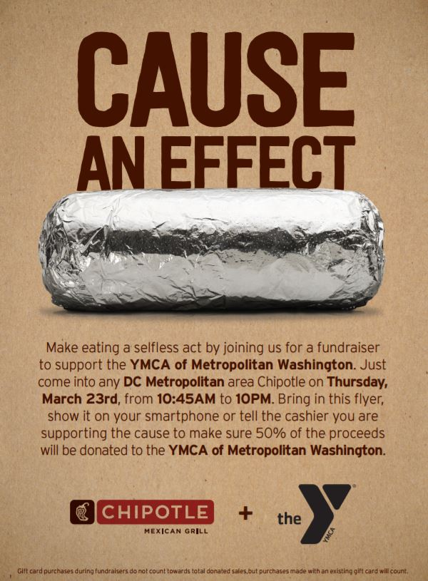 YMCA Fundraiser Flyer