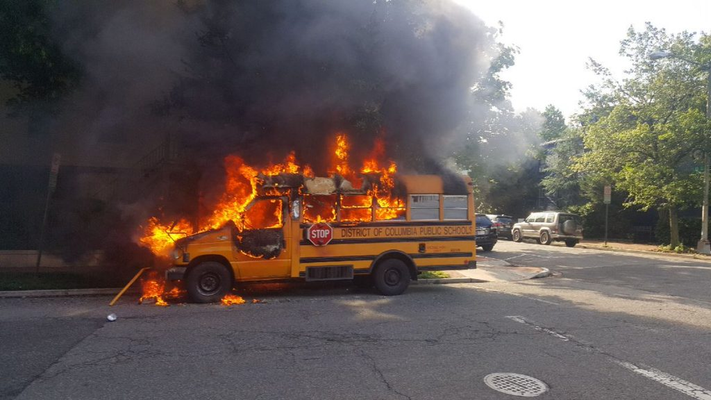 Adams Car Sales >> School Bus Fire on D Street NE near Stanton Park | PoPville