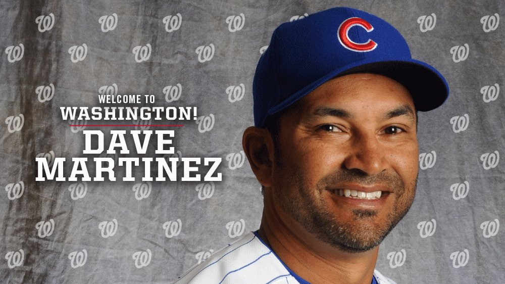Nats Name Cubs Bench Coach Dave Martinez New Manager