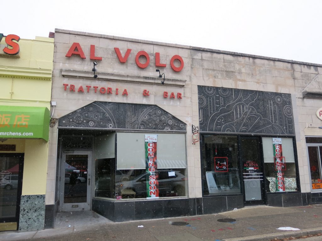Signage Up for Cucina Al Volo in Cleveland Park | PoPville